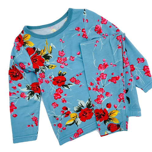 Turquoise Cherry Blossom Pjs