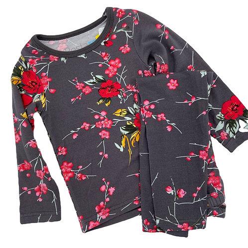 Grey Cherry Blossom Pjs