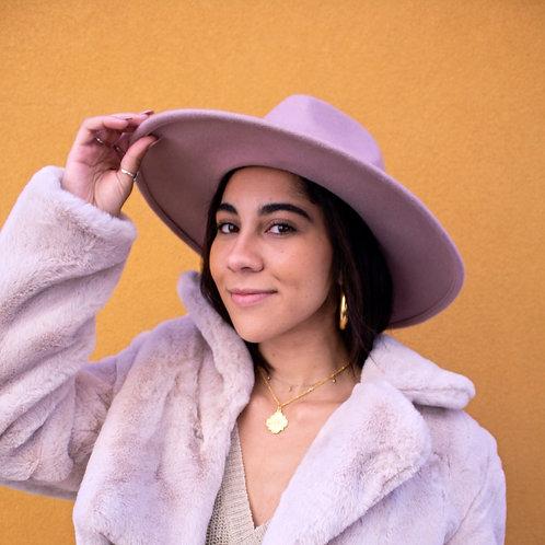 Faith's pink hat