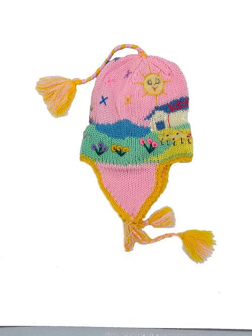 Handmade Peruvian Hat pink