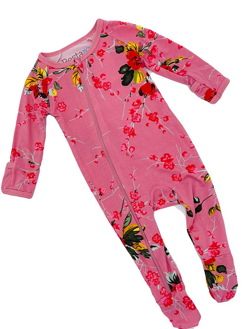 Cherry Blossom Footed Onsie