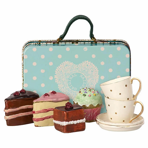 Maileg | Suitcase with Tea Sets and Cakes