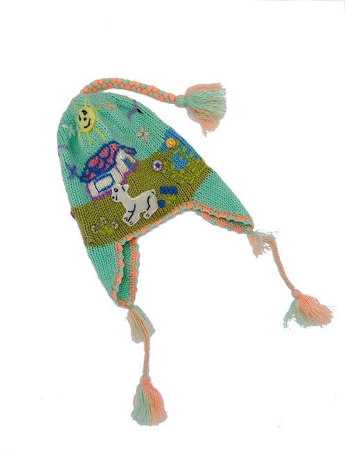 Handmade Peruvian Hat Green