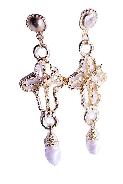 Royal Cross Earrings