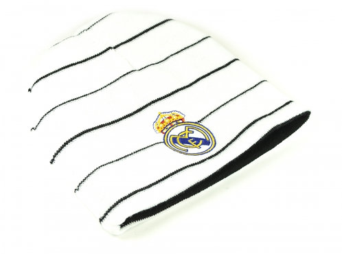Knitted Beanie Real Madrid White Reversible