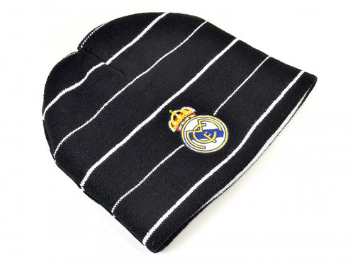 Knitted Beanie Real Madrid Black Reversible
