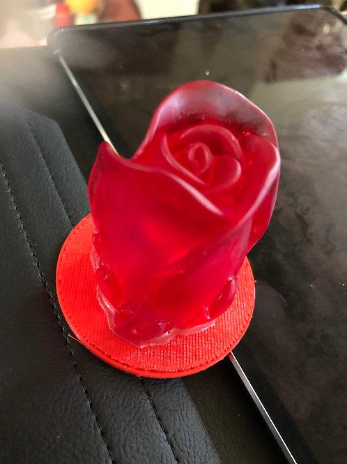 Red Rose-led lighted Resin
