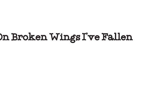 Special Edition Wings On Broken Wings I've Fallen  T-Shirt