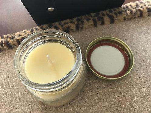 Beeswax 1/2 pint Mason Jar Candle