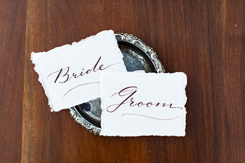 Custom Calligraphy for Place Cards Photo