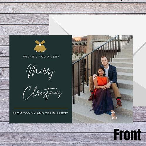 Elegant Minimal Photo Christmas Card