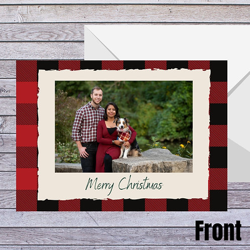 Plaid Photo Holiday Card