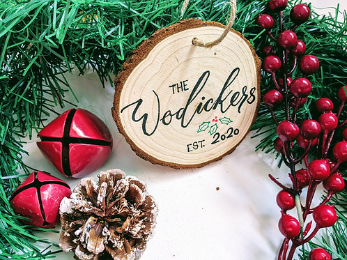 Custom Wooden Ornament/ Stocking Tags