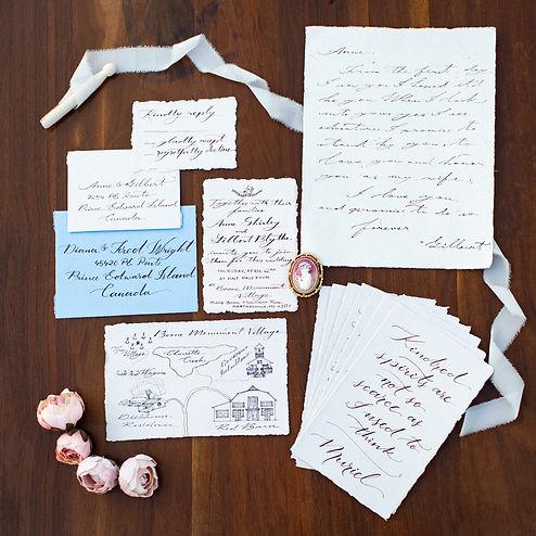Invitation Flatlay Photos - Kalena Photo