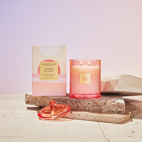 SUNRISE IN CAPRI - ORANGE BLOSSOM & COCONUT CANDLE