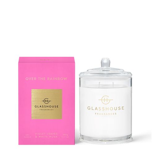 OVER THE RAINBOW - VIOLET LEAVES & WHITE MUSK CANDLE