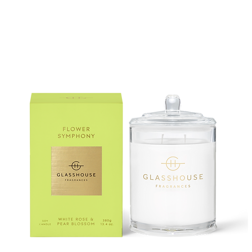 FLOWER SYMPHONY - WHITE ROSE & PEAR BLOSSOM CANDLE