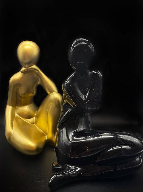Statua nera -WEISSESTAL