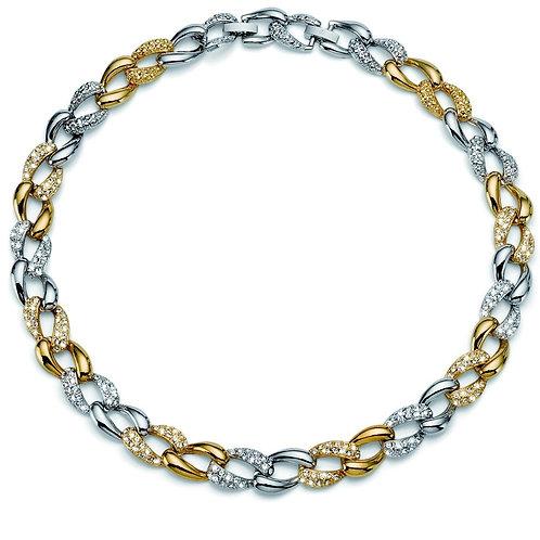 Collier Rank oro/rodio cristallo -Swarovski Oliver Weber