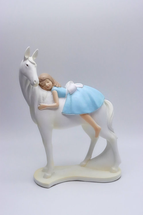 Lorenzon - Scultura - Bimba su Cavallo