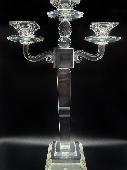 CANDELABRO IN CRISTALLO 3 FIAMME -made in italy