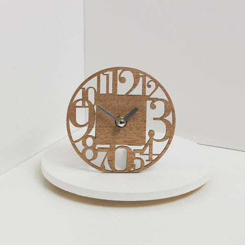 Bomboniera matrimonio Claraluna  orologio legno rotondo