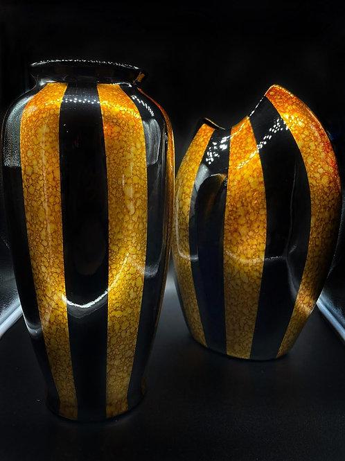 Vasobicolore nero e oro-VALENTI- bocca smussata