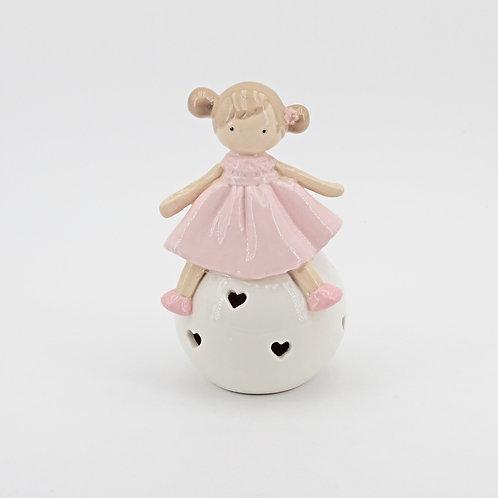 Bomboniera Ilary Queen Bambolina su sfera con led -Sweet Ilary Queen