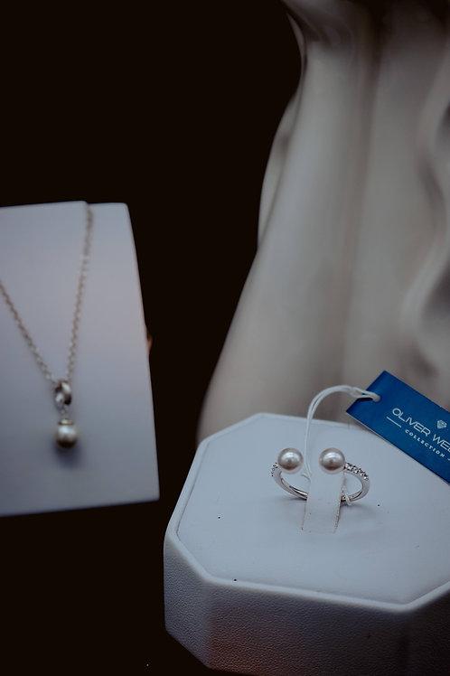Anello Basic Pearl- Oliver Weber Swarovski -L\XL