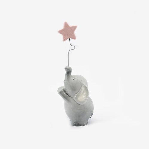 Bomboniera elefante con stella rosa-Babar Ilary Queen