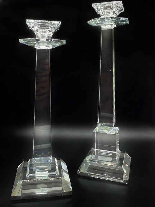 Candelabri in cristallo -coppia -Made in Italy