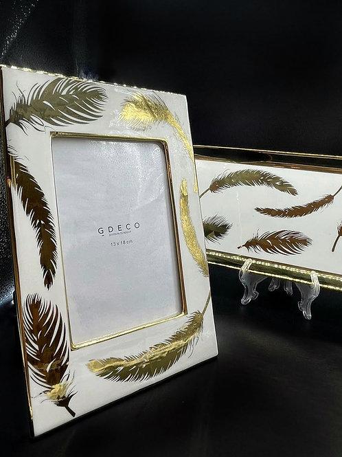 Cornice con foglie oro 13X18 -GDECO