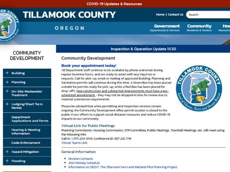Tillamook County Updates Website