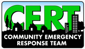 Be prepared when a Disaster Strikes. FREE CERT BASIC TRAINING Thurs, April 15 -June 10, 6–7 pm