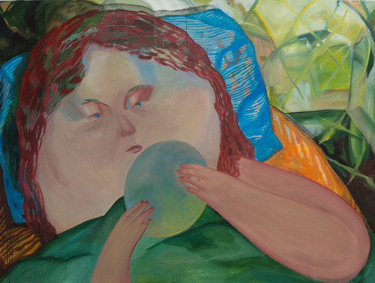 In the paradise 150 x 200cm, Acrylic on canvas