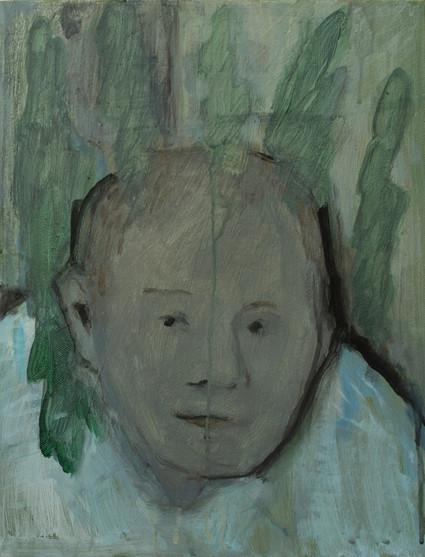 Birthdaywoman with seeweed 40 x 30cm, Acrylic on canvas