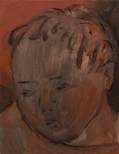 A boy 24 x 18cm, Acrylic on canvas