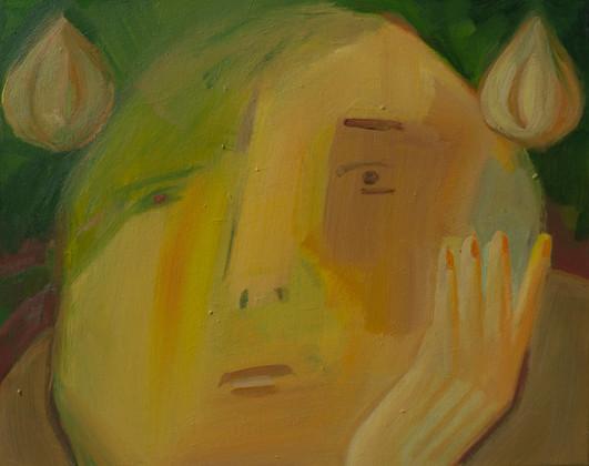 The garlic man  40 x 50cm, Acrylic on canvas