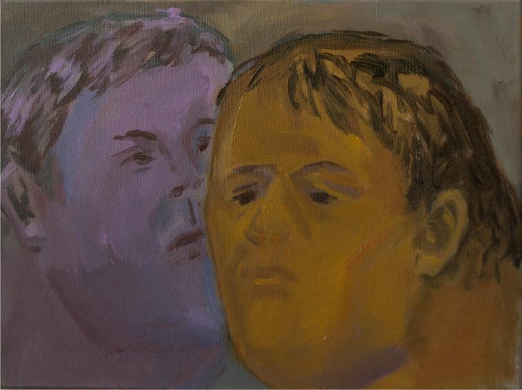 Duo 30 x 40cm, Acrylic on canvas