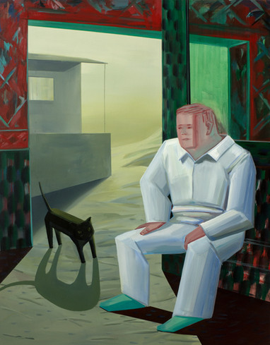 A man in the desert 160 x 130cm, Acrylic on canvas