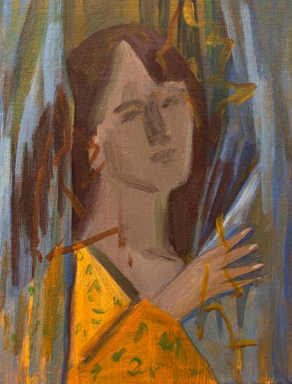 A woman 24 x 18cm, Acrylic on canvas
