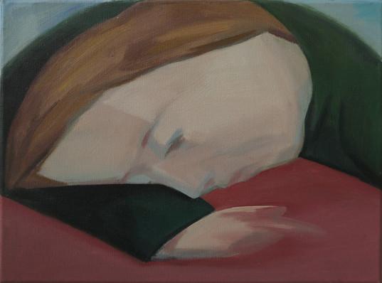 Tired 30 x 40cm, Acrylic on canvas