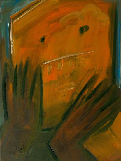 A jam monster 40 x 30cm, Acrylic on canvas