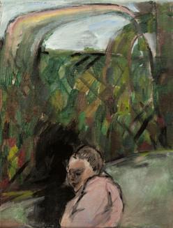 Behind of the rainbow 24 x 18cm, Acrylic on canvas