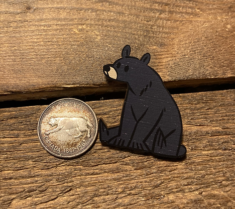 Canadian Critters Wooden Pin Collection-Black Bear