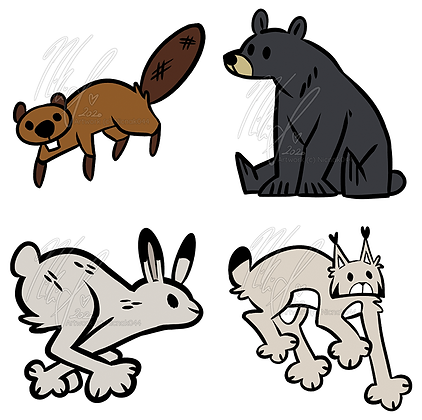 Seconds/ B-Grade Canadian Critters Wooden Pin Collection
