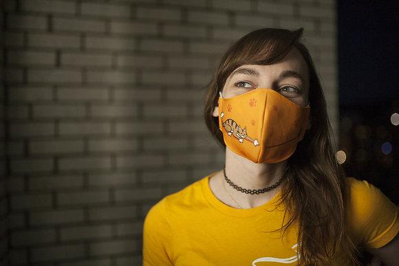 'Cat & Yarn' Reusable Facemask