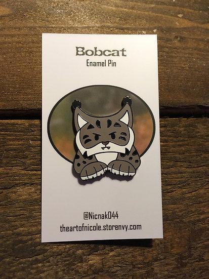 'Wild Lynx' Hard Enamel Pin Collection- Bobcat