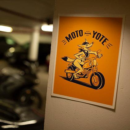 'Moto Yote' Art Print 8.5x11