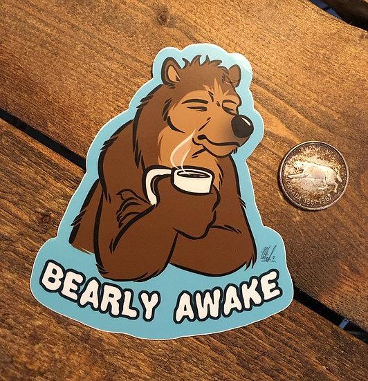 'BEARLY AWAKE' Sticker